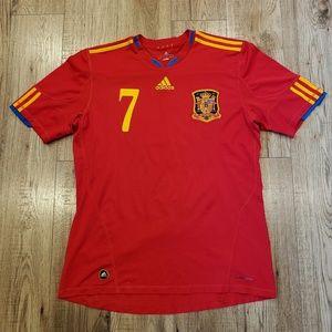 Adidas David Villa Soccer Jersey Size Large